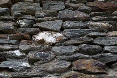 Oude van de Steenmuur Textuur Als achtergrond Stock Foto