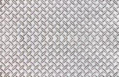 Oude van het de plaatpatroon van de staaldiamant textuur als achtergrond Stock Afbeelding