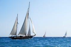 Oude varende boten in Imperia Stock Fotografie