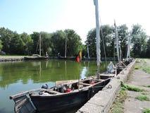 Oude varende boten, Litouwen Royalty-vrije Stock Foto