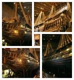 Oude Vasa van het Schip - collage Royalty-vrije Stock Foto's