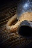 Oude vaves op de stroachtergrond Stock Afbeelding