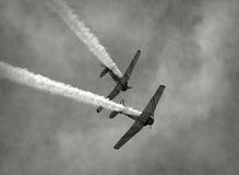 Oude vechtersvliegtuigen Stock Afbeeldingen