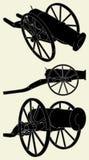 Oude Vector 01 van het Kanon Royalty-vrije Stock Afbeeldingen