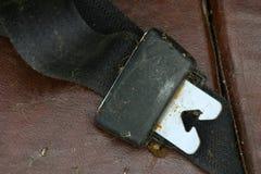Oude veiligheidsgordel stock fotografie