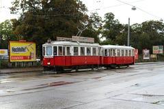 Oude Veinnese-Tram Royalty-vrije Stock Afbeeldingen