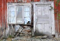 Oude venster en deur Stock Fotografie