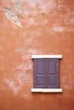 Oude venster en muur Royalty-vrije Stock Foto's