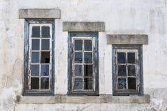 Oude Vensters Stock Fotografie