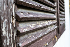 Oude vensterzonneblinden Stock Fotografie