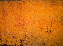 Oude verf op de vloermetaal aangetaste textuur Stock Foto