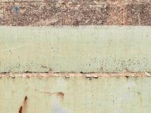 Oude verf op de vloermetaal aangetaste textuur stock fotografie