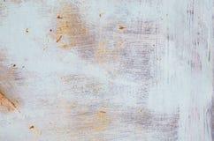 Oude verf op roestige metaaltextuur Royalty-vrije Stock Afbeeldingen