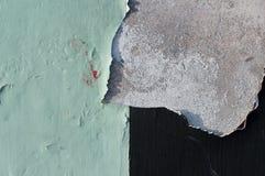 Oude verfschil van concrete muur, textuur Stock Afbeeldingen