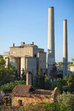 Oude verlaten cementfabriek Royalty-vrije Stock Foto