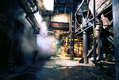 Oude verlaten fabriek Stock Fotografie