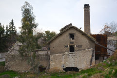 oude verlaten fabriek Royalty-vrije Stock Afbeeldingen