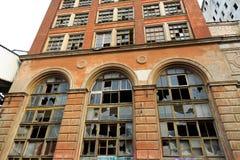oude verlaten fabriek stock foto