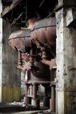Oude verlaten fabriek - furnance Stock Afbeeldingen