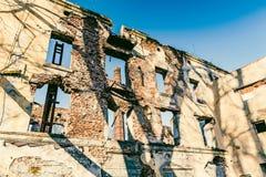 Oude verlaten fabriek, ruïnes Royalty-vrije Stock Fotografie