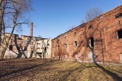 Oude verlaten fabriek, ruïnes Royalty-vrije Stock Foto