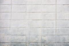 Oude verlaten grunge witte bakstenen muur Royalty-vrije Stock Foto