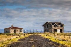 Oude verlaten huizen Royalty-vrije Stock Foto's