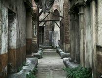 Oude verlaten huizen in oud Rome Royalty-vrije Stock Afbeelding