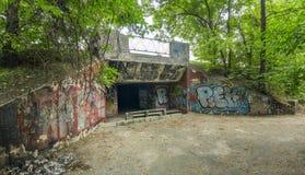 Oude verlaten ondergronds kruising Royalty-vrije Stock Afbeelding