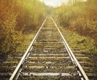 Oude verlaten spoorweg Royalty-vrije Stock Foto's