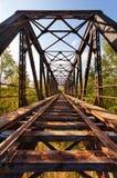 Oude Verlaten Spoorwegbrug royalty-vrije stock afbeelding