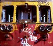 Oude verlaten trein Stock Afbeelding