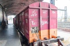 Oude verlaten trein Royalty-vrije Stock Foto's