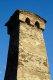 Oude verlaten vestingstoren in Hogere Svaneti, Georgië Stock Fotografie