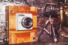Oude verouderde camera oude geschiedenis Royalty-vrije Stock Foto's