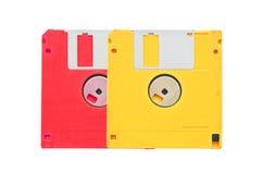 Oude verouderde gekleurde diskettes Royalty-vrije Stock Fotografie
