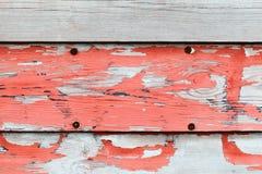 Oude verouderde reclame houten muur Royalty-vrije Stock Foto's