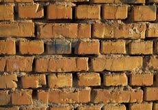 Oude versleten bakstenen muur Royalty-vrije Stock Afbeelding