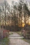 Oude versleten brug Royalty-vrije Stock Afbeelding