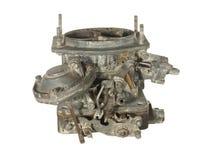 Oude versleten carburator van een oude auto die op witte backgroun wordt geïsoleerd Royalty-vrije Stock Fotografie