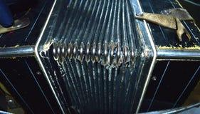 Oude versleten harmonika stock foto's