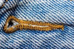 Oude versleten jeans Royalty-vrije Stock Afbeelding
