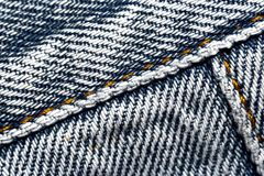 Oude versleten jeans Royalty-vrije Stock Fotografie