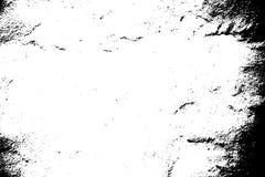 Oude versleten textuur Zwart gruis op transparante achtergrond stock illustratie