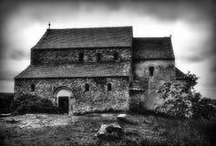 Oude versterkte kerk royalty-vrije stock foto's