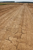 Oude verwoeste weg Stock Foto