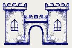 Oude vesting vector illustratie