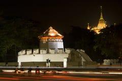 Oude vesting in Bangkok royalty-vrije stock fotografie