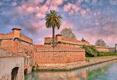 Oude vesting in de Leghorn van Livorno, Toscanië, Italië Stock Foto