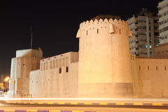 Oude Vesting in de Stad van Sharjah Stock Afbeelding